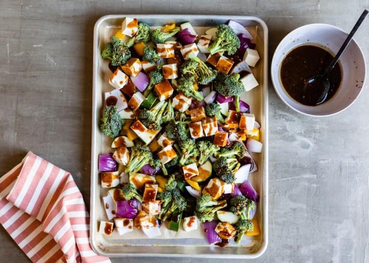 Sheet Pan Hoisin Tofu and Vegetables