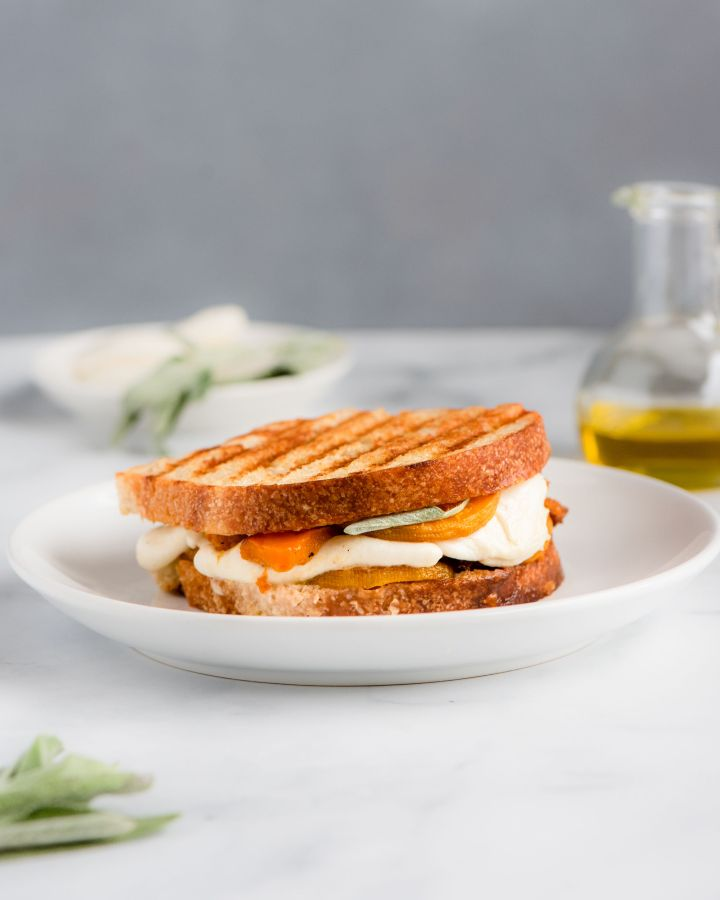 Fresh Mozzarella and Butternut Panini with Sage