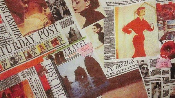 vintage newspaper marketing collage
