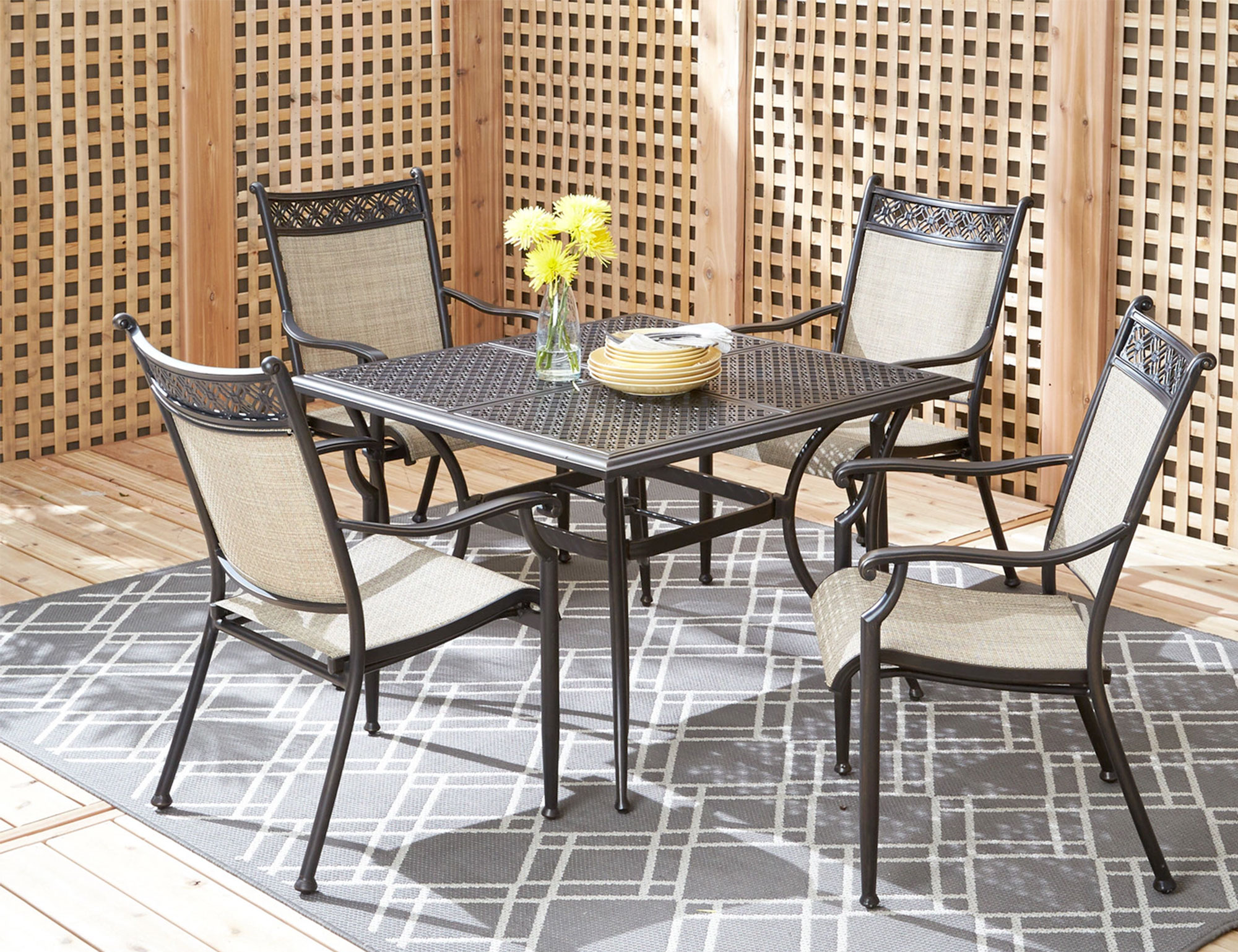 patio dining sets manhattan back deck