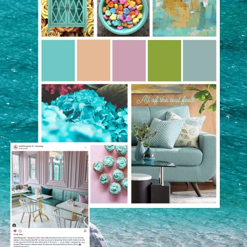 teal mood board