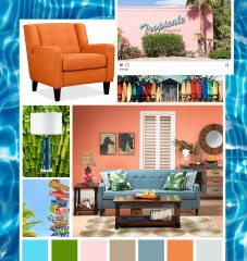 tropical mood board
