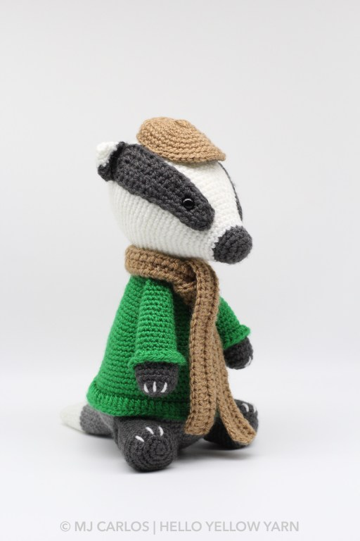 Mr. Timothy Badger Amigurumi Pattern