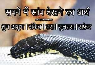 Sapne Mein White safed domuha Saap Dekhna Hindi