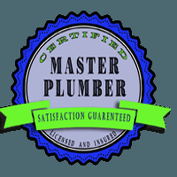 Certified Master Plumber Licensed and Insured Satisfaction Guaranteed badge