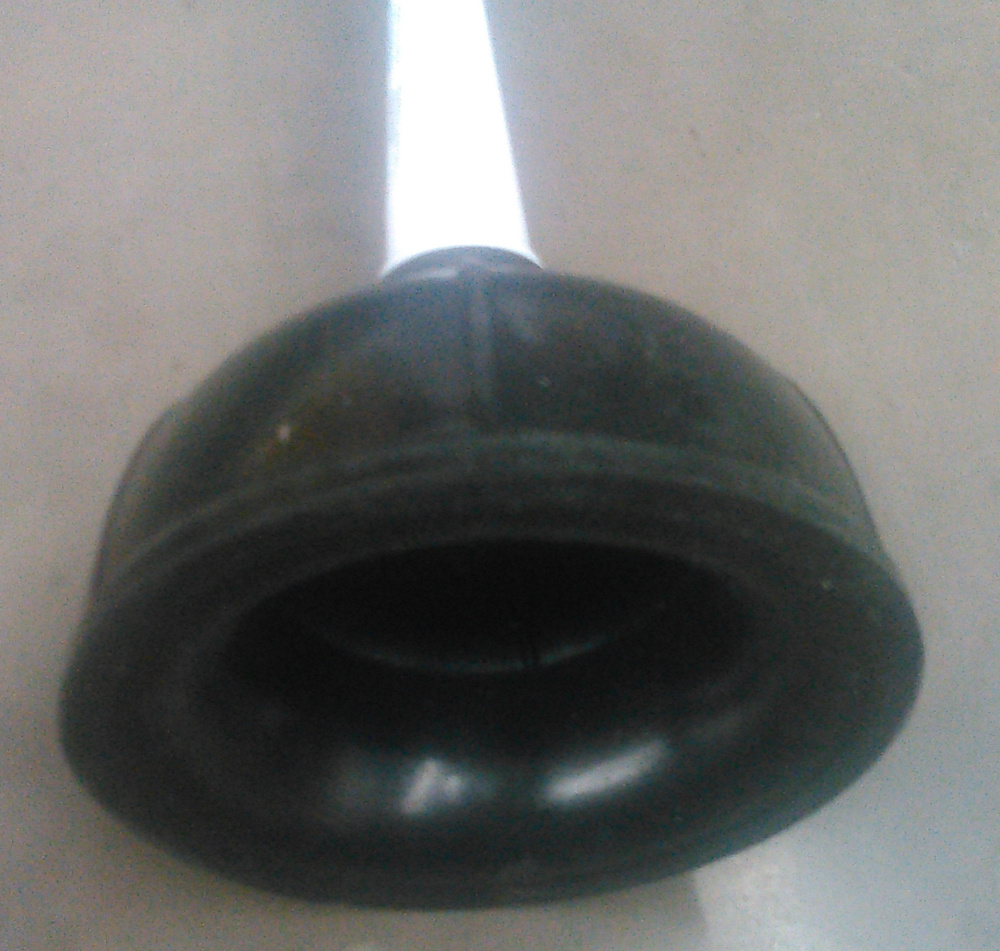 plunger folded in for flat surface