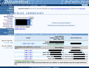 dreamhost 3 email