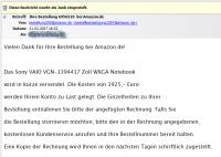 Amazon Spam- und Virus-Mail