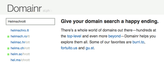 Domainr Domain Research