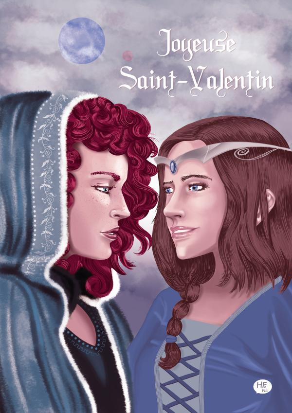 illustration pour la saint valentin par Héloïse Finoux-Nikolic