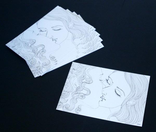 lot carte postale Kiss N&B