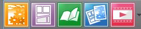 les 5 boutons de création d'un nouveau fichier de clip studio paint