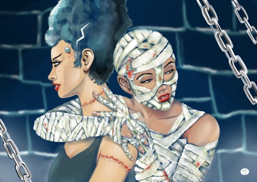 illustration la fiancée de la momie par Héloïse Finoux-Nikolic