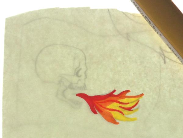 colorisation sans contour sur une nouvelle feuille avec feutres tria