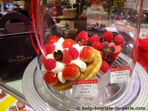 Romantische Patisserie zum Valentinstag in Paris
