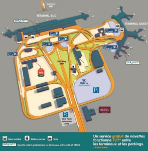Terminal Plan Orly Paris