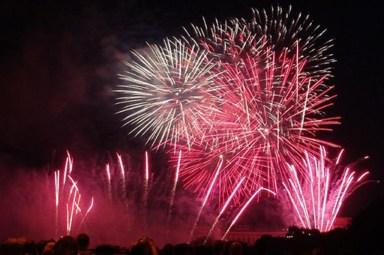 Feuerwerk am Eiffelturm