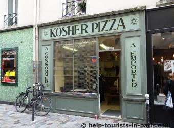 Kosher Pizza im Marais in Paris
