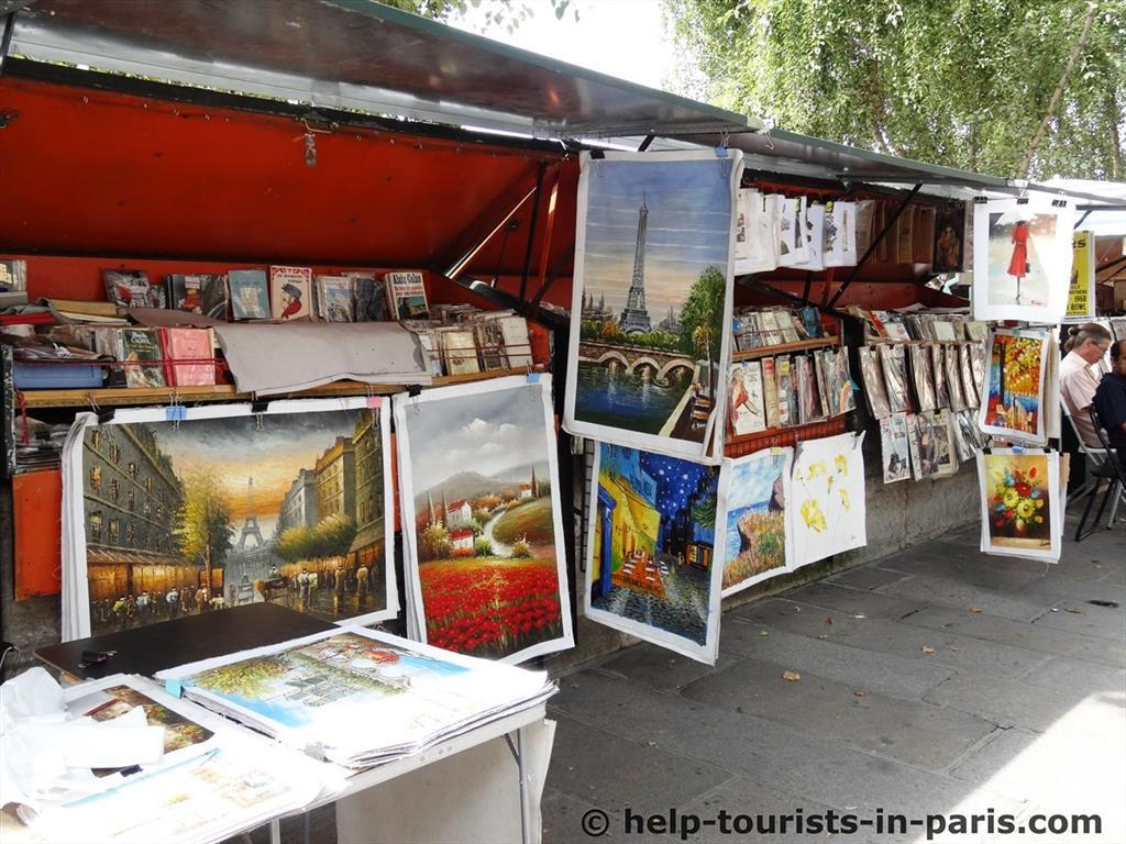 Bücherhändler an der Sein in Paris