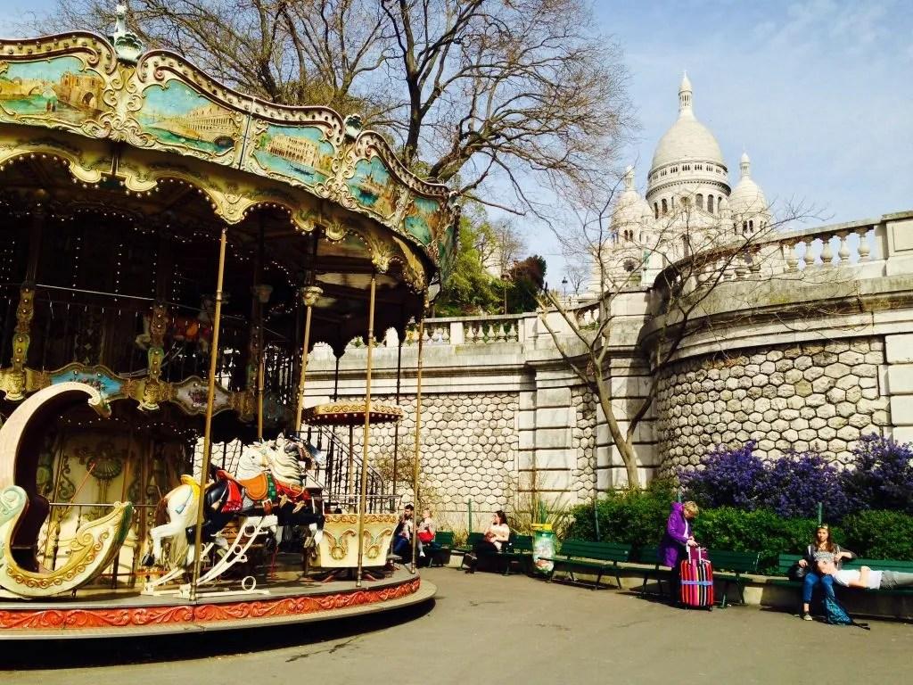 Heile Welt in Montmartre in Paris
