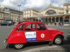 Romantischen Entenfahrt durch Paris