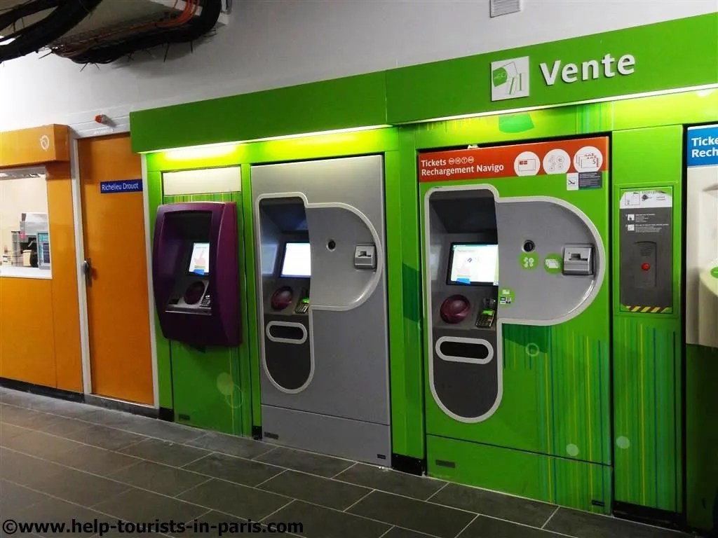 Metro Paris Ticket Automaten