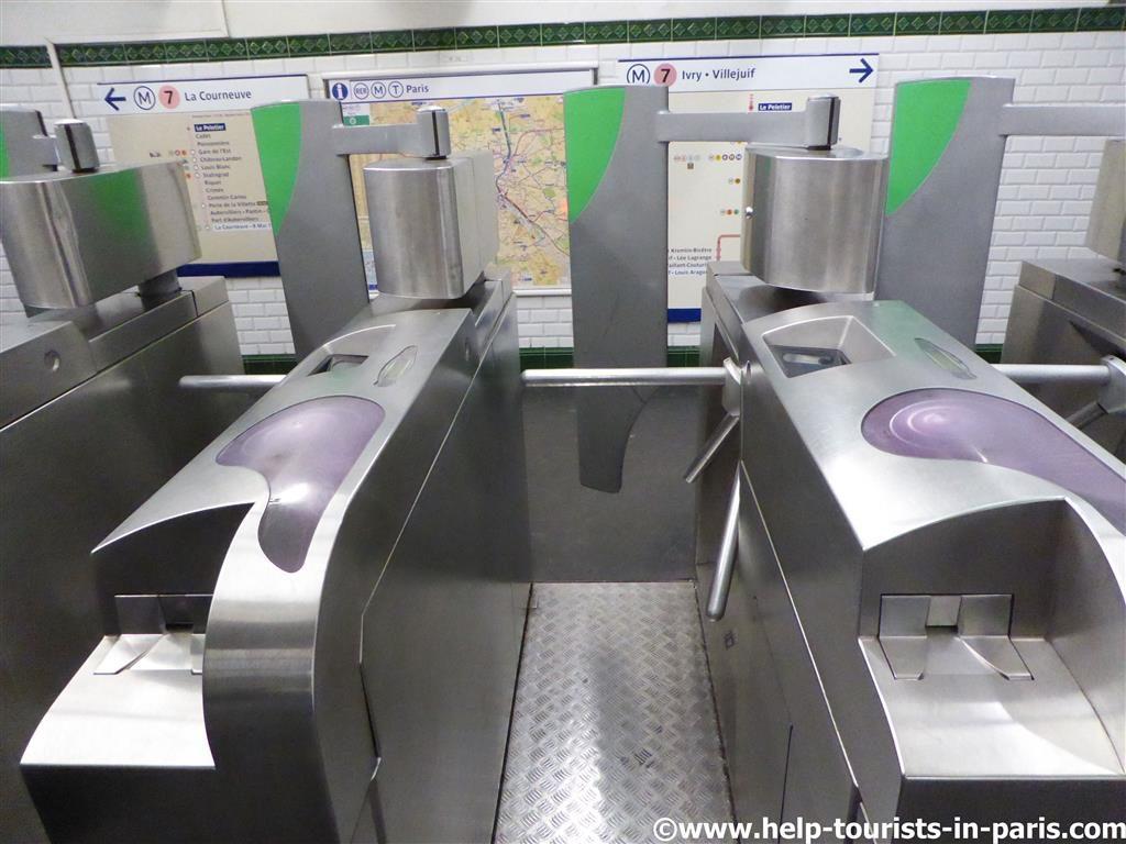 Metro Ticket Pais Entwertung Drehkreuz
