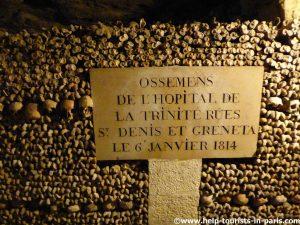 Herkunft Gebeine Katakomben Paris