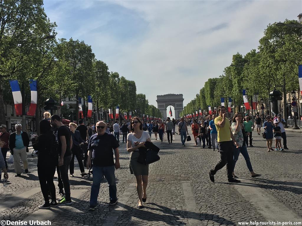Champs-Elysées ohne Autos