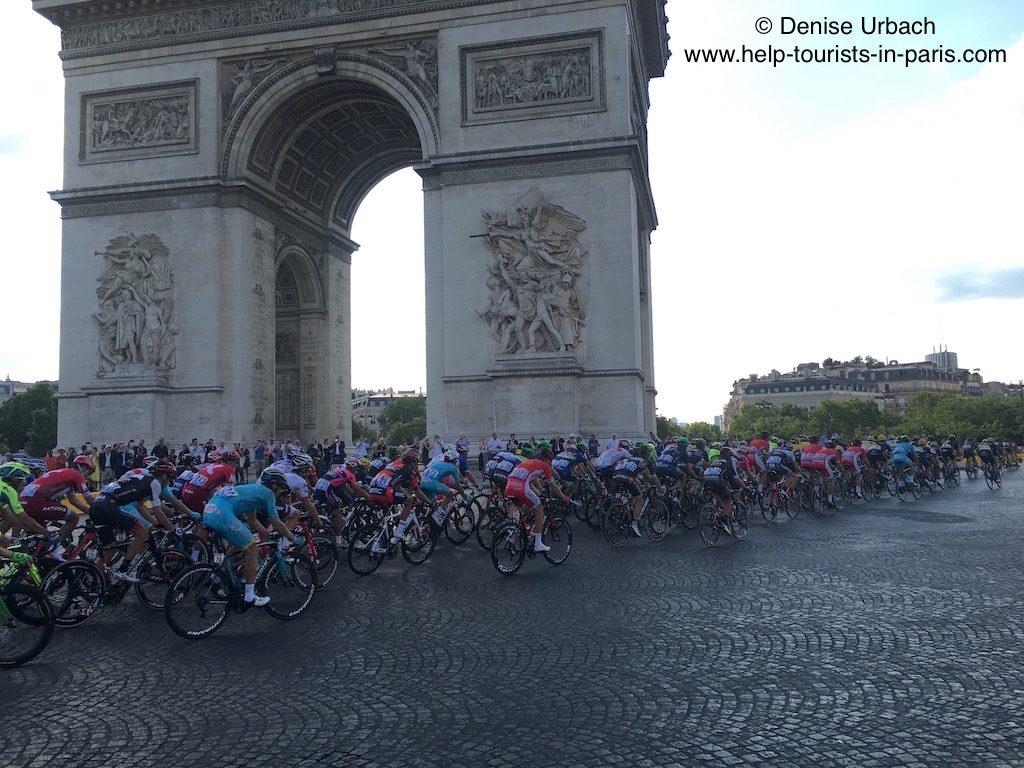 Fahrerfeld Tour de France Paris