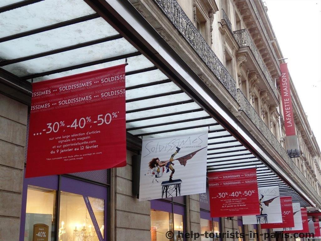 Sommerschlussverkauf in paris