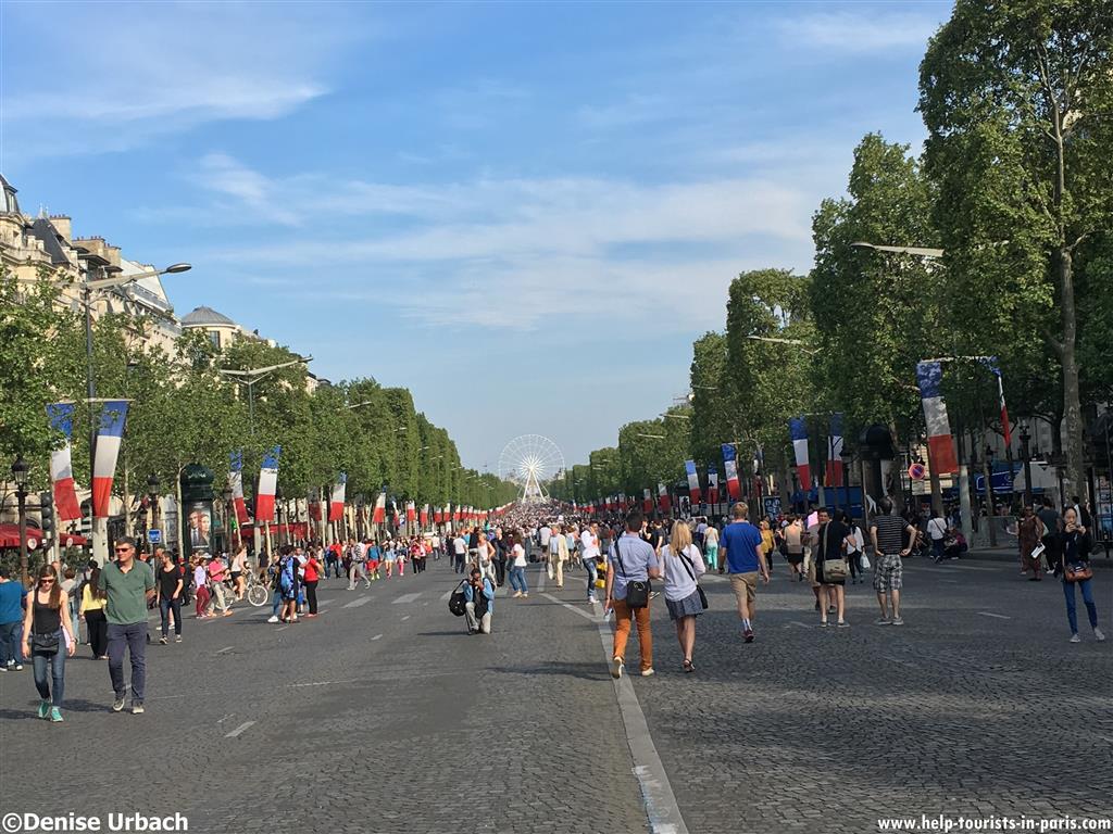 autofreie Champs-Elysées Paris