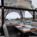 Mittagessen Eiffelturm Bustronome Paris