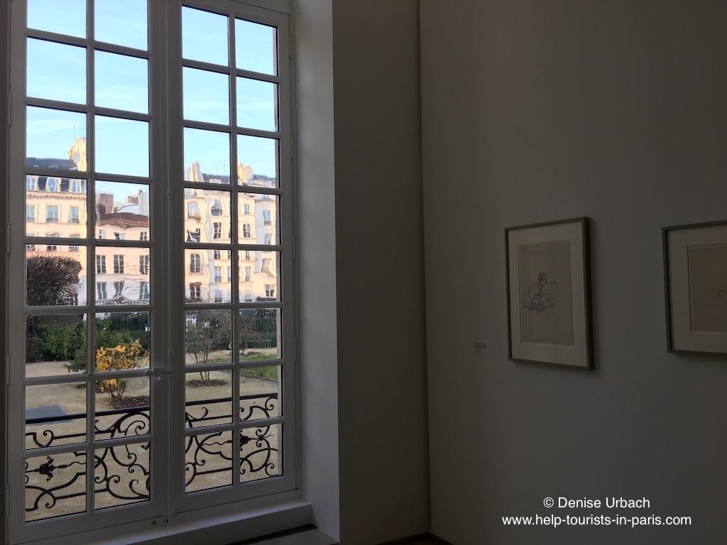 Ausblick aus dem Picasso Museum Paris