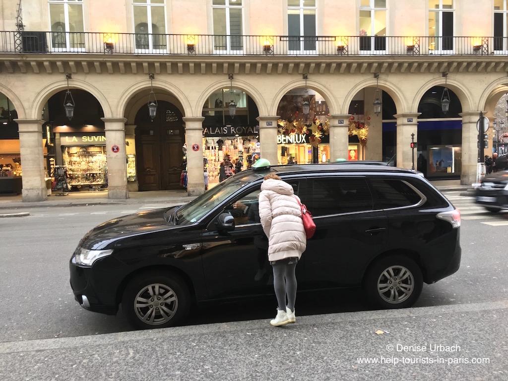 Taxi fahren Paris