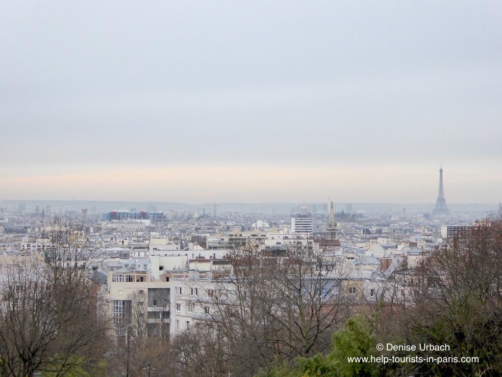 Belleville mit Blick auf Paris