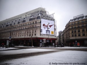 Schnee in Paris