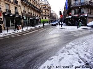 Schneechaos in Paris