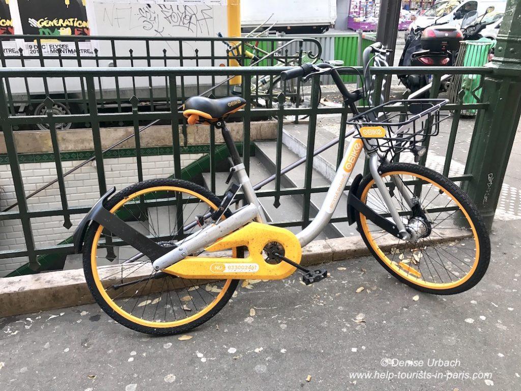 oBike Fahrradfahren in Paris