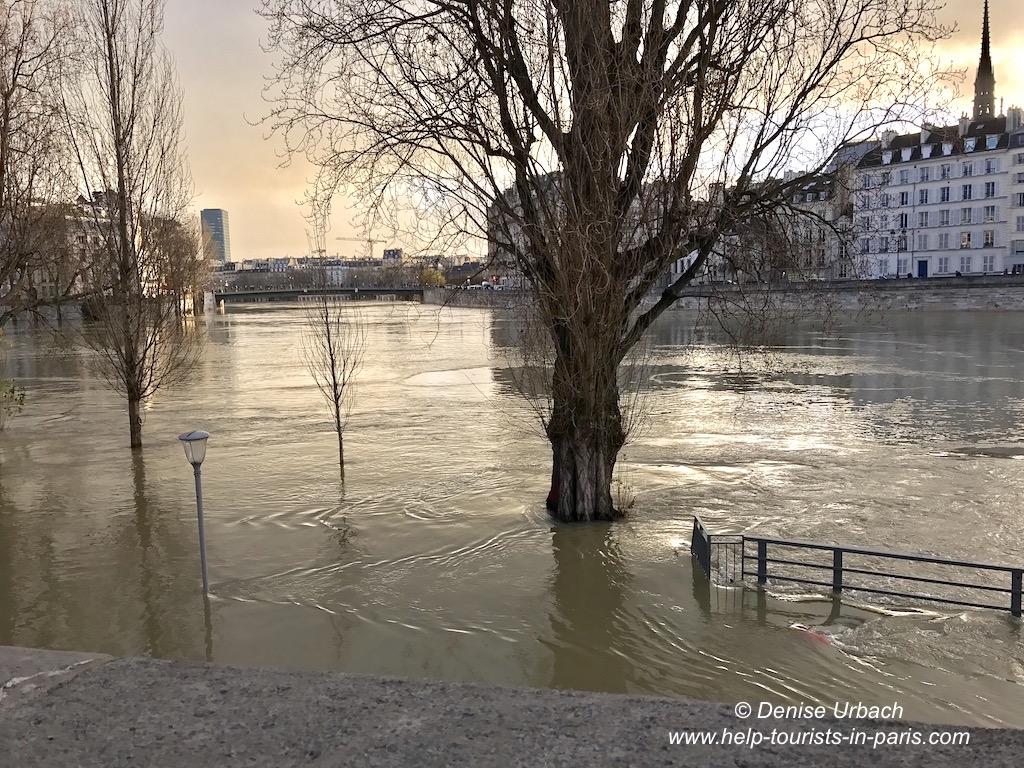 Seine tritt über Ufer in Paris