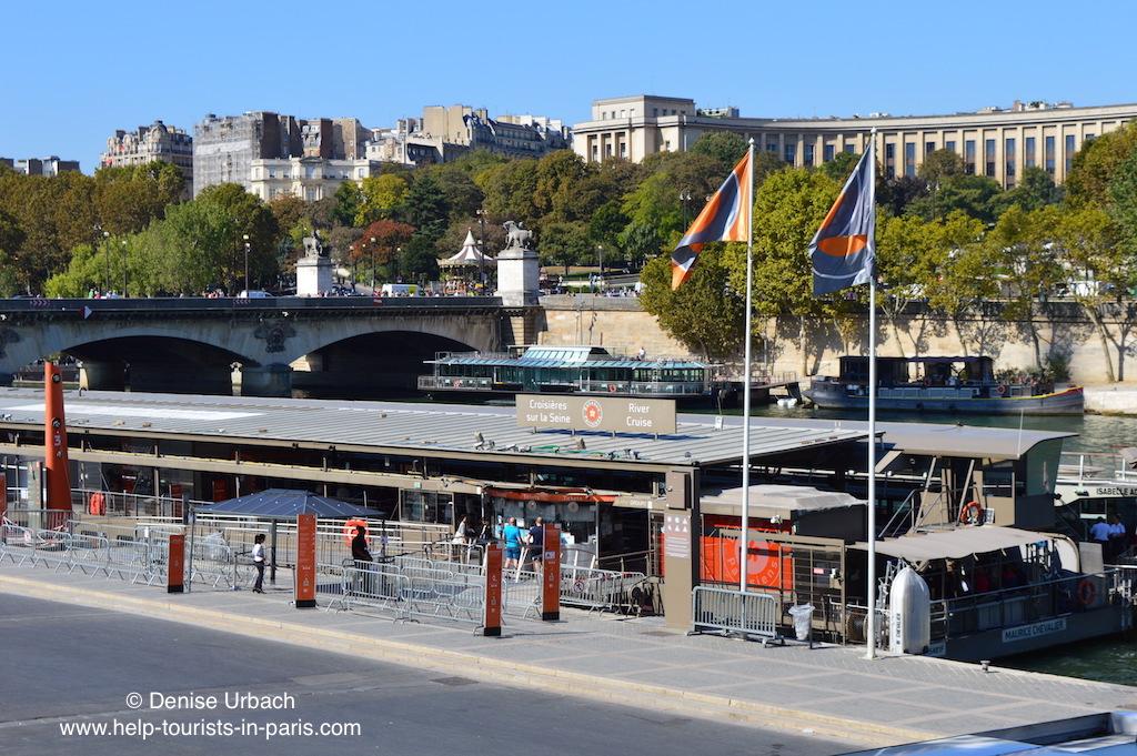 Anlegestelle Bateaux Parisiens in Paris