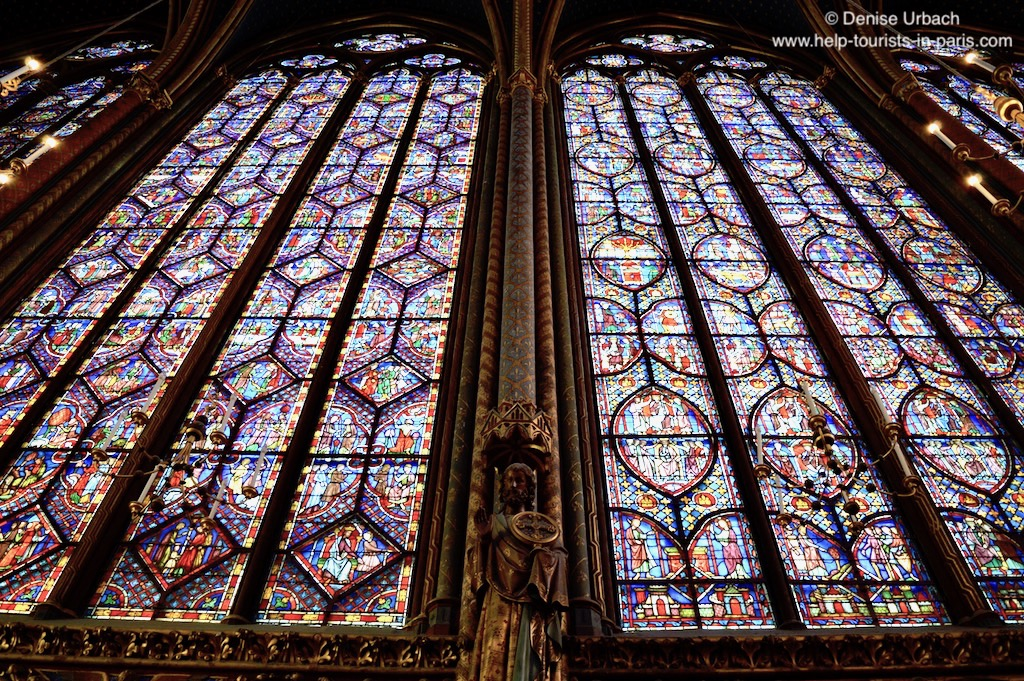 Paris Sainte Chapelle Seitenfenster