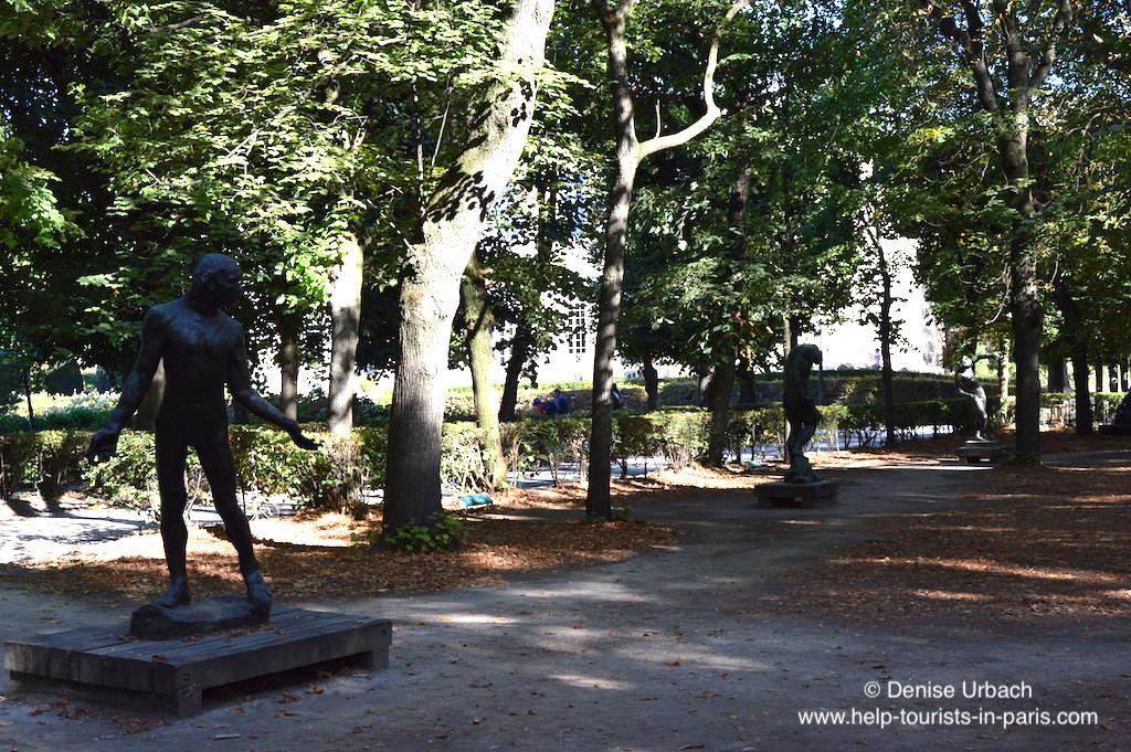 Rodin Museum Garten Bronzestatuen