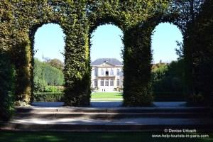 Rodin Museum Park versteckter Blick auf das Haus