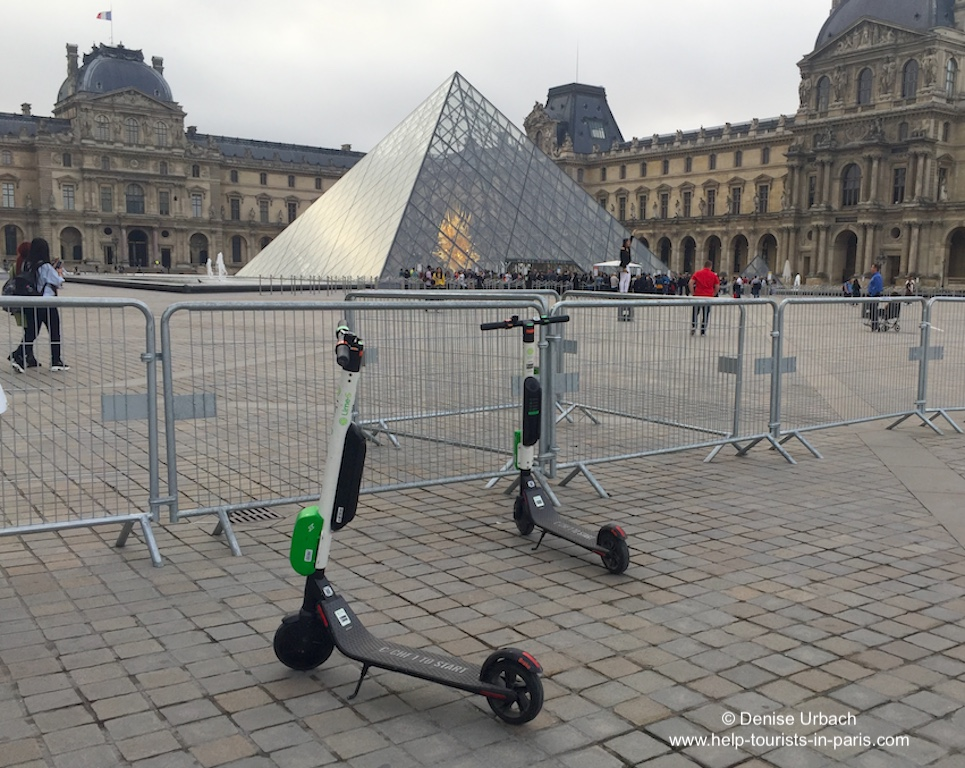 Lime Elektroroller Paris Louvre