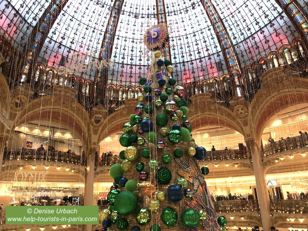 Weihnachtsbaum Galeries Lafayette Paris 2018