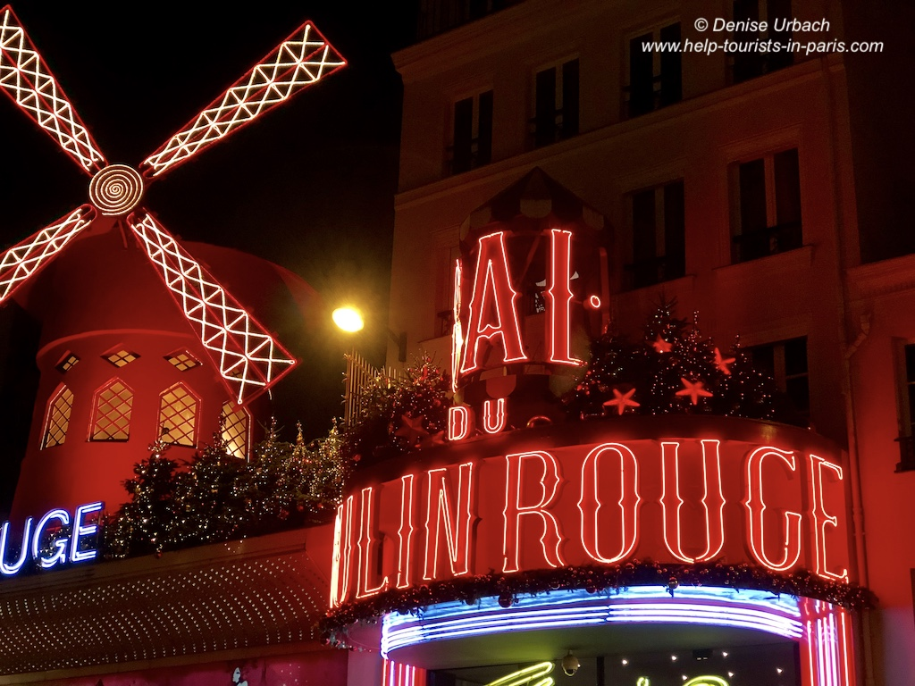 Moulin Rouge Paris am Abend
