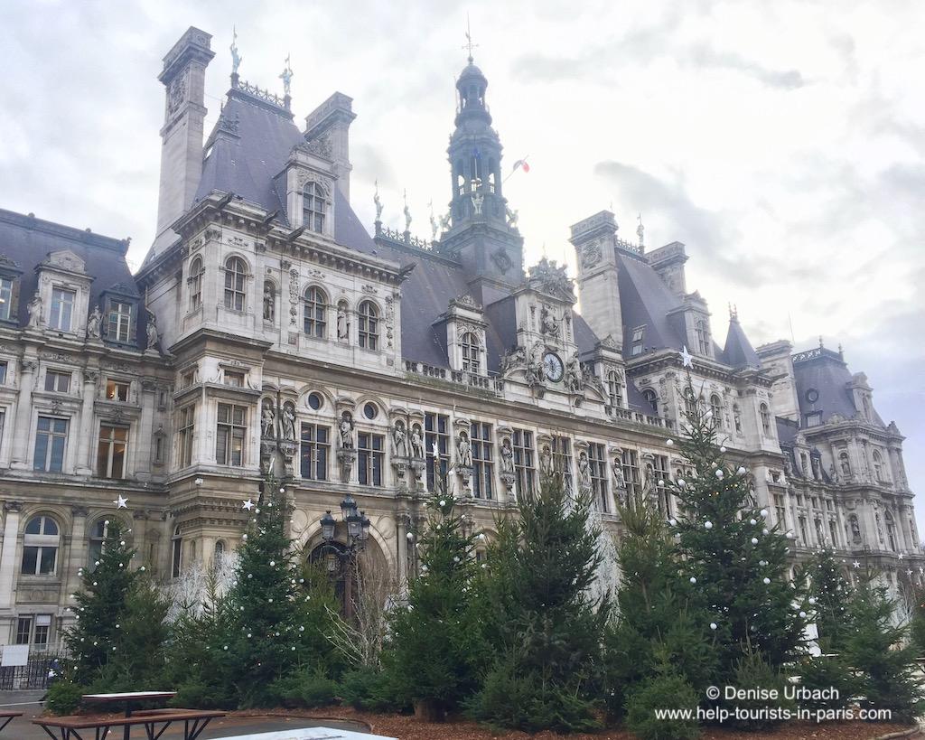 Weihnachten Hotel de Ville Paris