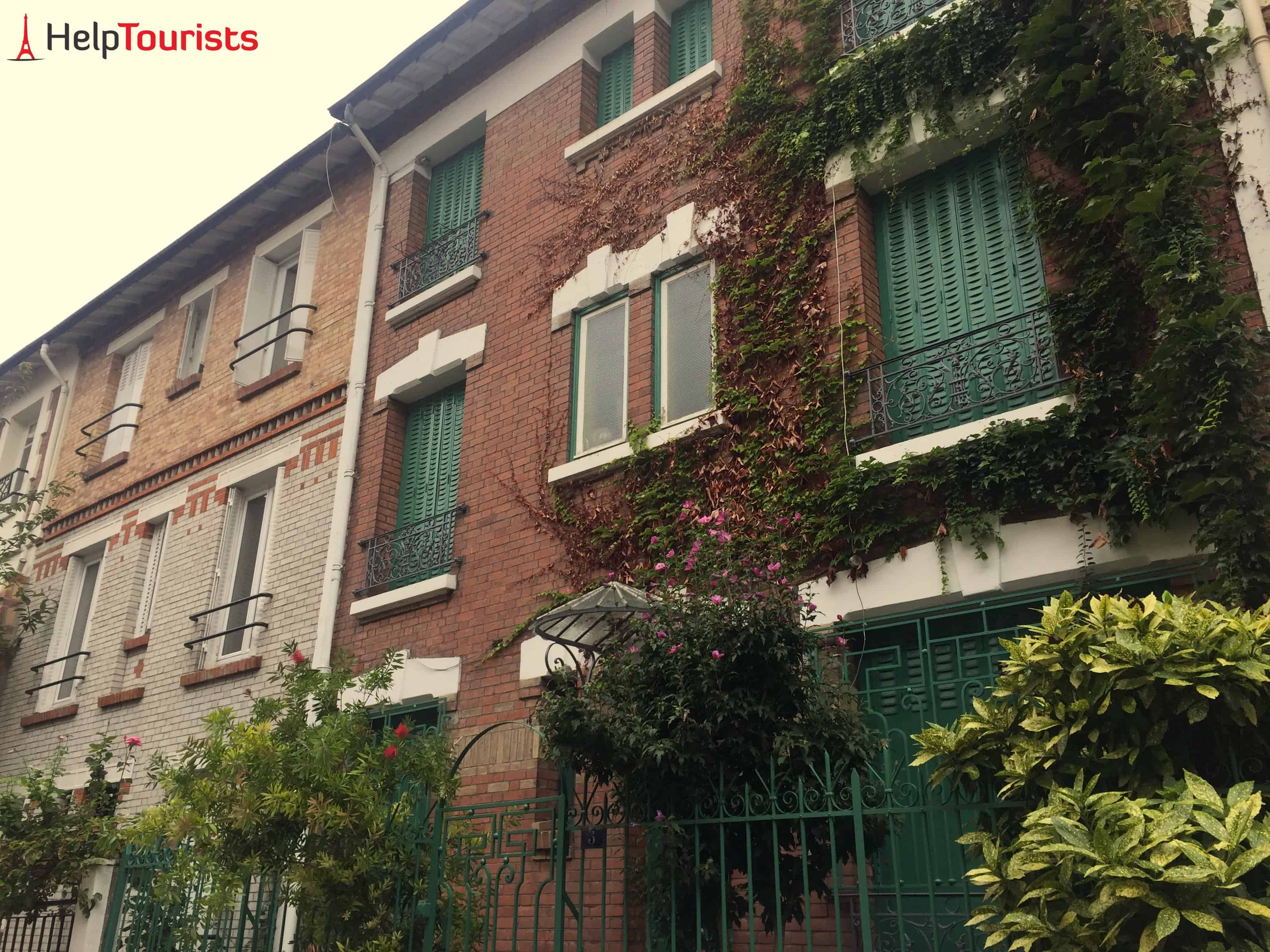 Paris 13. Arrondissement Hausfassade