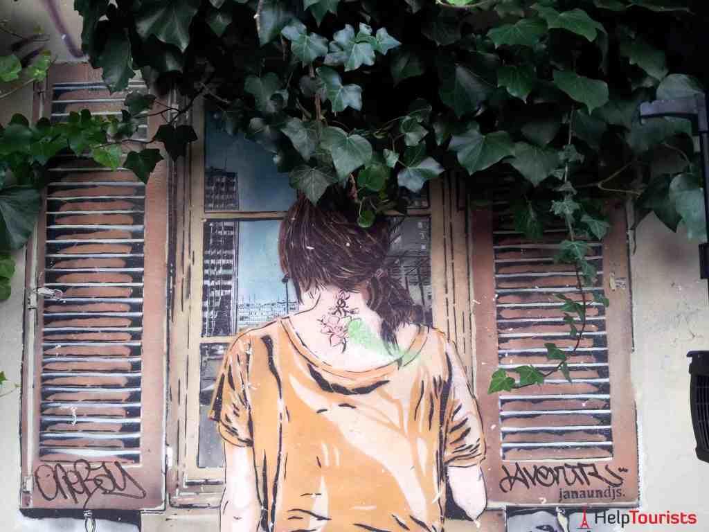 Paris 13. Arrondissement Butte aux Cailles Street Art